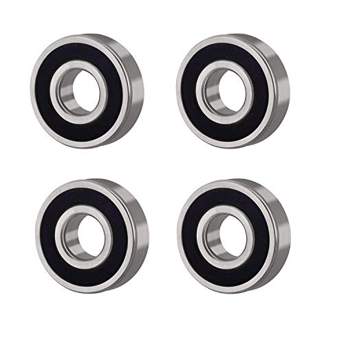 Donepart 6003RS Bearings 6003 2RS Deep Groove Ball Bearings 17mm x35mm x10mm ABEC3 Double Rubber Selaed for Electric Motor, Wheels, Garden Machinery, etc (4pcs)