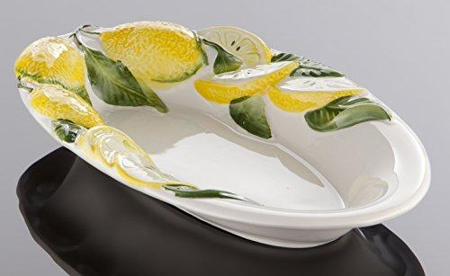 Bassano italienische Keramik ovale Zitronenschale 29x18
