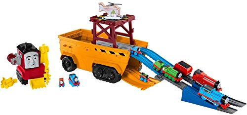 Thomas & Friends GDV38 Super Cruiser 2-in-1 Large Vehicle and Track Set with Trackmaster and MINIS Train Engines, Multicoloured