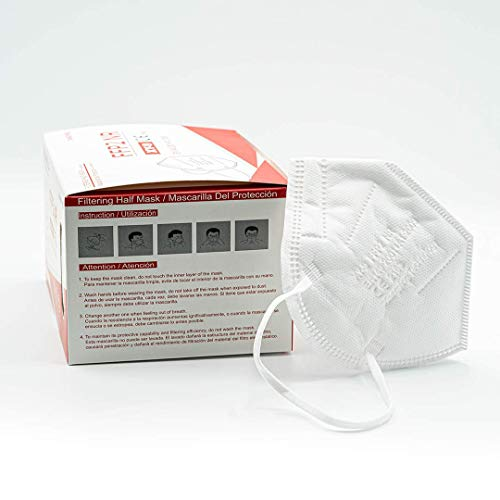 Xiangying x25 mascarillas FFP2 NR Homologadas y Certificadas - Blancas - Embolsado Individual para mayor comodidad - Protección polvo y partículas (caja 25 mascarillas) (Blanco)