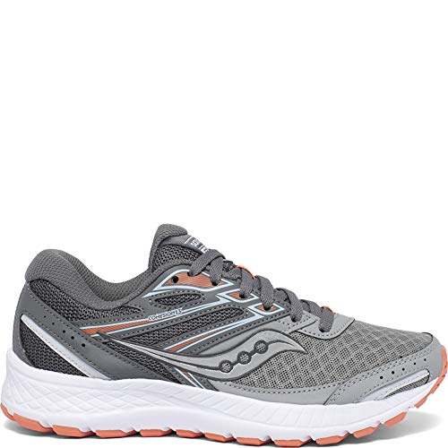 Saucony womens Cohesion 13 Running Shoe, Alloy/ Coral/ Sky, 8 US