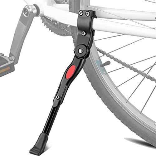 Linghuang Pata de Cabra para Bicicleta Soporte para pies para Bicicleta de montaña Fabricado en aleación de Aluminio Resistente con Altura Ajustable y pie de Goma Antideslizante