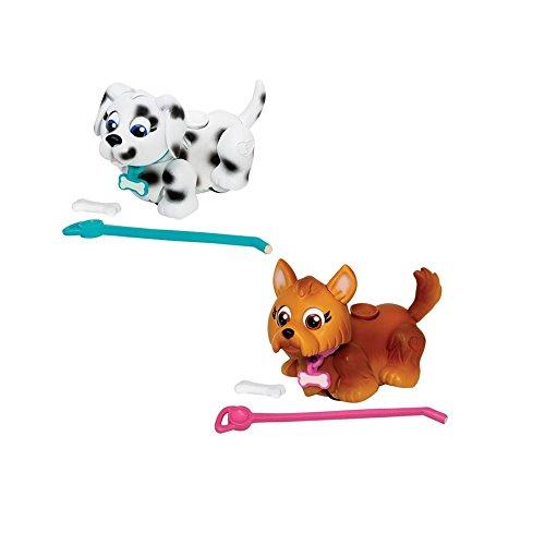Giochi Preziosi - Pet Parade Cagnolini Interattivi con Osso e Guinzaglio, Razza Yorkshire Terrier e Dalmata