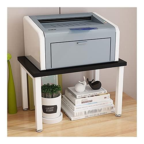 El carrito funciona bien en la oficina, la cocina, Soporte de impresora, soporte de impresora de monitores PC RISER, estantes de almacenamiento de escritorio multiusos, estantes de la impresora para e