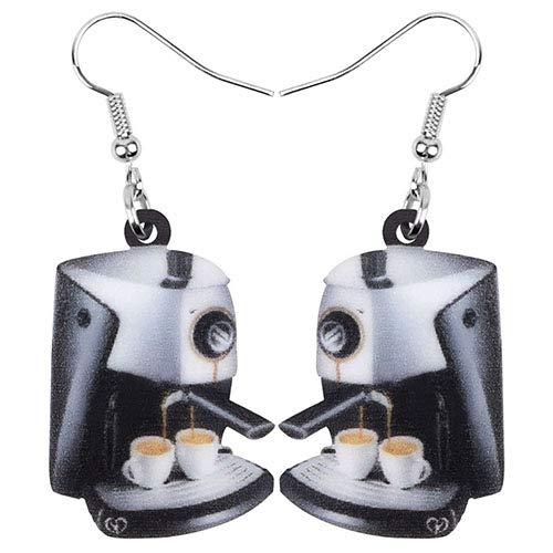 AdronQ® Acryl Kaffeemaschine Tasse Ohrringe Drop Dangle Dekoration Schmuck Zubehör für Frauen Mädchen Teen Kid