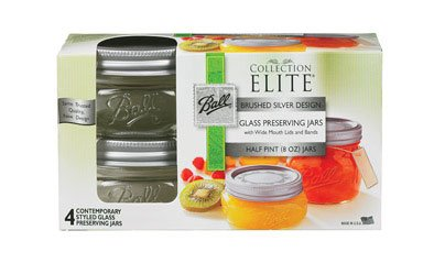 Ball Mason Wide Mouth 8oz Half Pint Jars