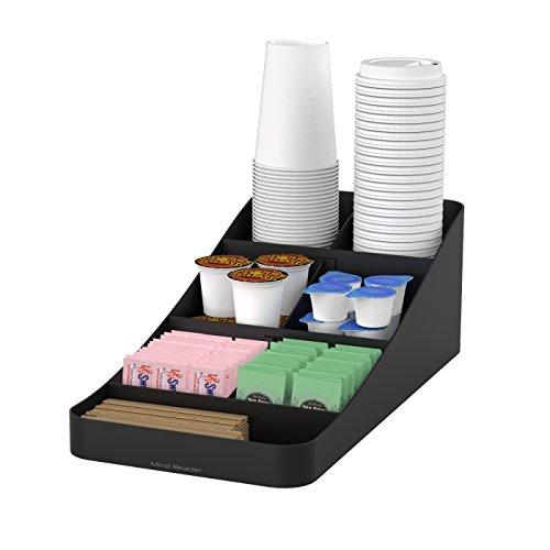 Mind Reader Coffee 7 Compartment Organizer, Black