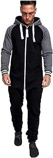 Guiran Heren Jumpsuits Fleece pyjama's Heren Trainingspakken JumpsuitsHeren Jumpsuits Overall Hoodie Pyjama