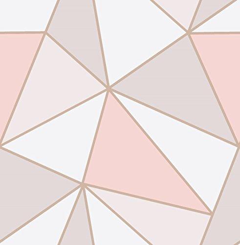 """Tapete """"Apex"""" mit geometrischem Muster von Fine Decor, rotgolden, FD41993"""