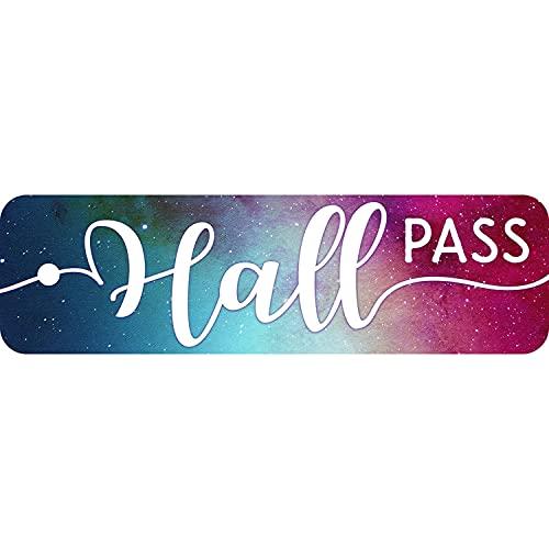 Top Notch Teacher Products Plastic Hall Pass, Galaxy Script Hall Pass