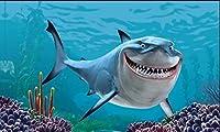 1500個の木製 教育的 のパズルの装飾のおもちゃ -悪いサメ(6歳以上が適しています)(87x57cm)