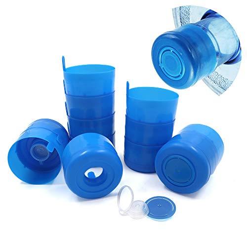 12 tappi riutilizzabili da 3 a 5 galloni, tappo a vite riutilizzabile, coperchio di ricambio per brocca d'acqua, 3 galloni, blu anti-spruzzatura