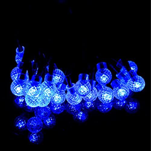 2 patrón 30LED luces de bola de piña luces de cadena solares luces de decoración del día de Navidad luces de bola solares de patio al aire libre B