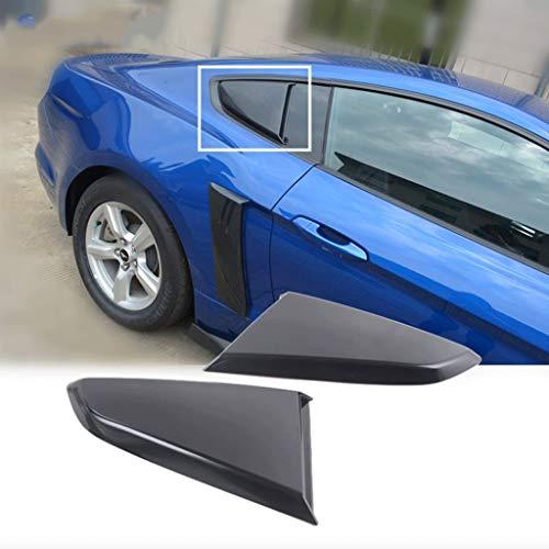 ABD Cubiertas laterales para ventanilla lateral para ventana lateral Mustang 2015-2018 (color negro)