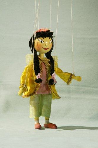 Augsburger Puppenkiste Marionette Prinzessin Li SI aus Jim Knopf inkl. Gratispostkarte