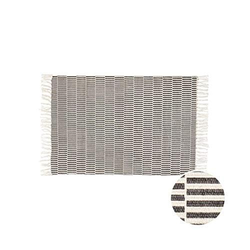 Butlers Silent Dancer Teppich 120x170 cm - Baumwolle Anti-Rutsch-Matte Wohnzimmer Inneneinrichtung