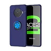 電話ケース 目に見えないホルダーを持つOPPO ACE2耐衝撃TPU保護ケースのためのXllrbd (Color : Blue)
