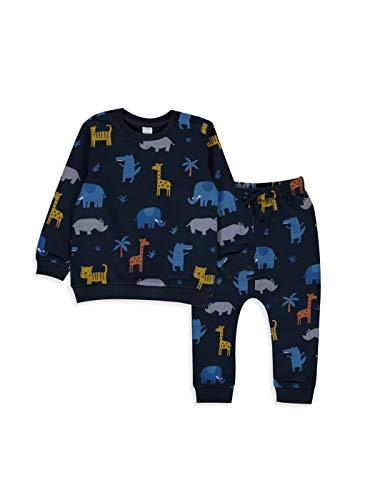 LC WAIKIKI Baby Jungen Bedrucktes Sweatshirt und Jogginghose