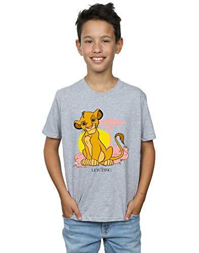 Disney Niños The Lion King Simba Pastel Camiseta Deporte Gris 5-6 Years