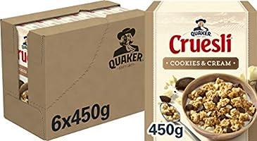 Quaker Cruesli Cookies & Cream Limited Edition, Doos 6 stuks x 450 g