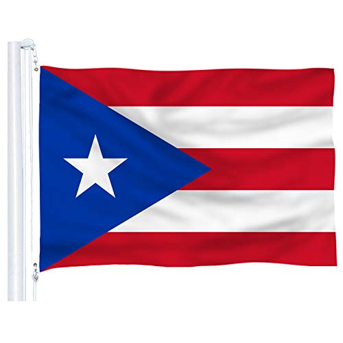 DFLIVE Puerto Rico Flag 3x5 Ft Thicker Polyester The Puerto Rican National Banner with Brass Grommets