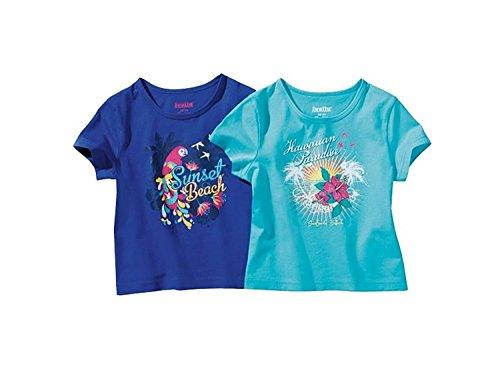 lupilu Mädchen T-Shirts 2 -er Set Blautöne 98/104