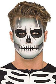 Adulto Brilla En La Oscuridad Esqueleto Pintura Facial Maquillaje Kit Accesorio Para Disfraz