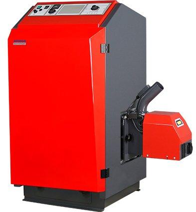 ATMOS Pelletkessel Typ P 14-25 kW Pelletheizung P.14+A25 Brenner