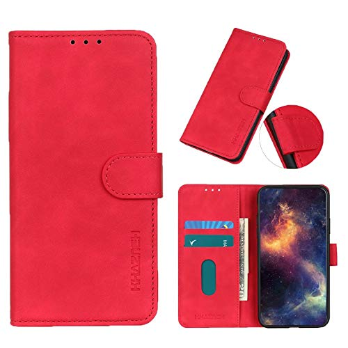 Coque Textura Vintage Carcasa de telefono para Nokia C1 Plus(Roja)