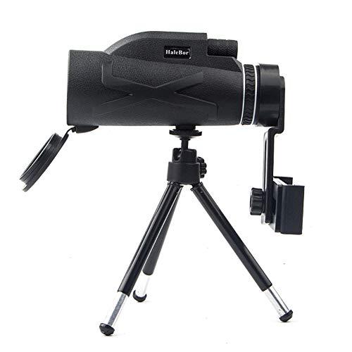 Almabner - Telescopio monoculare 80 x 100 ad alta potenza, impermeabile, compatto, con visione notturna HD, lente ottica monoculare, zoom per caccia, campeggio, sport all'aperto