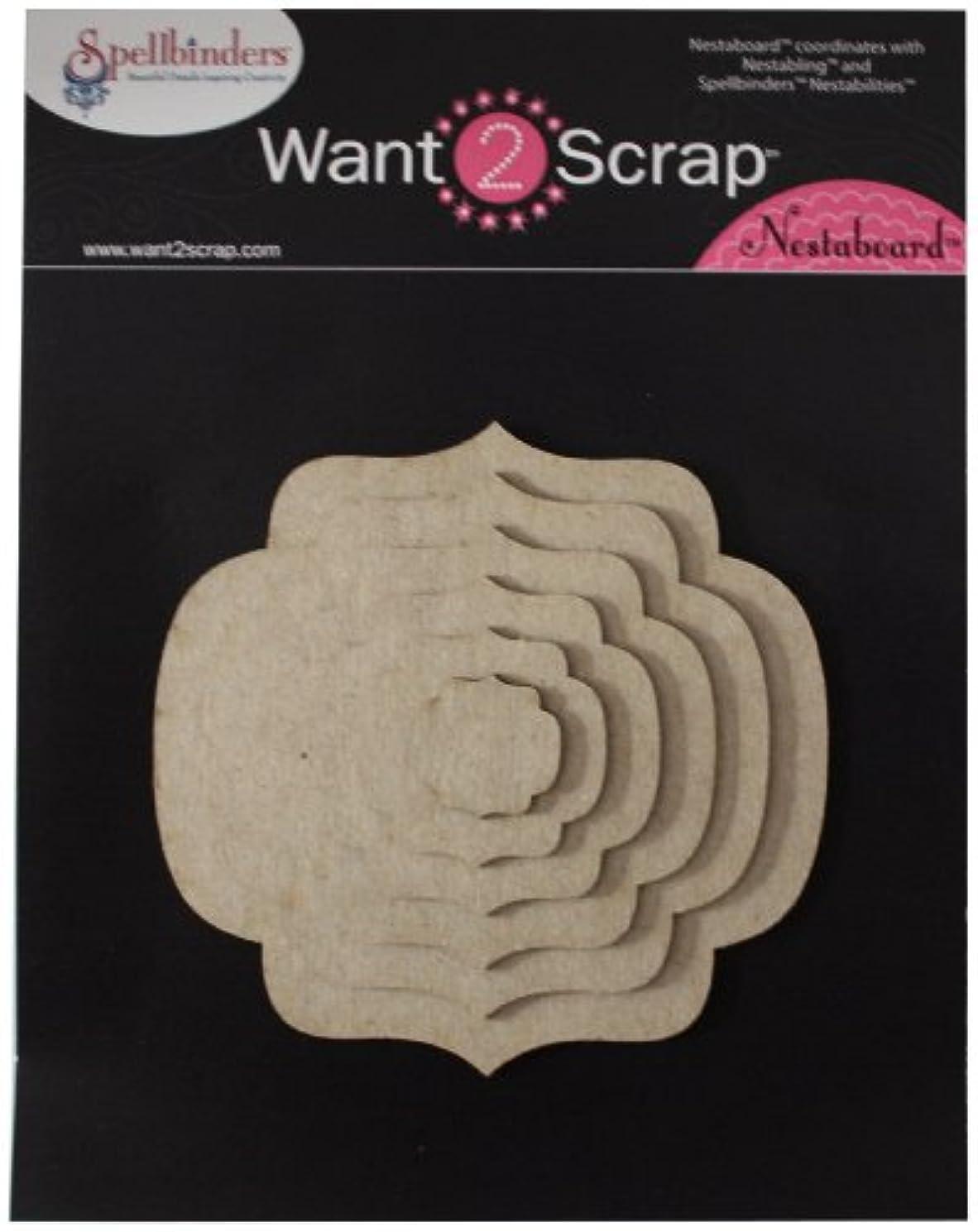 Want2Scrap Nestaboard Chipboard, Labels Nine