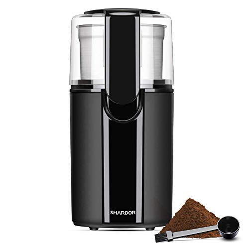 SHARDOR Coffee Grinder Electric, Electric Coffee Blade Grinders with Removable Stainless Steel Bowl, Black (Renewed)