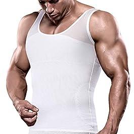 VENI MASEE Slim Men's Compression Shirt to Hide Gynecomastia Moobs Chest Slimming Body Shaper Undershirt