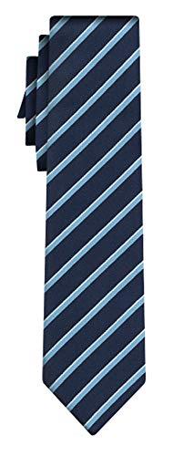 BOSS Seidenkrawatte fine stripe navy