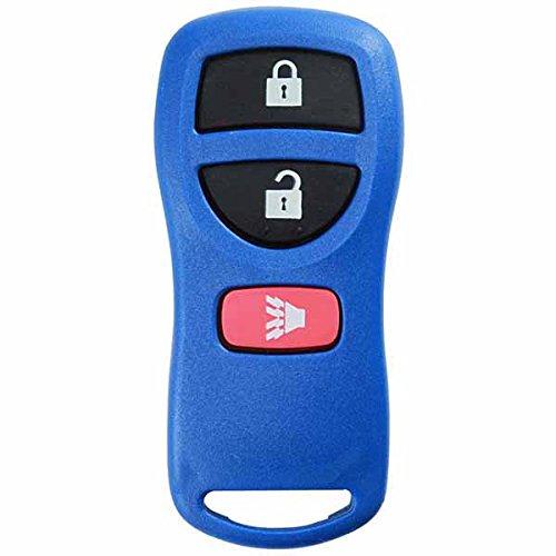 KeylessOption Keyless Entry Remote Control Car Key Fob Replacement for KBRASTU15, CWTWB1U733-Blue