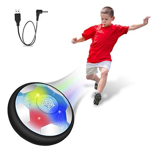 Coquimbo Kinderspielzeug Air Fußball Hover Soccer Ball, Indoor und Outdoor Air Power USB Wiederaufladbare Ball mit LED-Beleuchtung, Jungen Mädchen Kinder