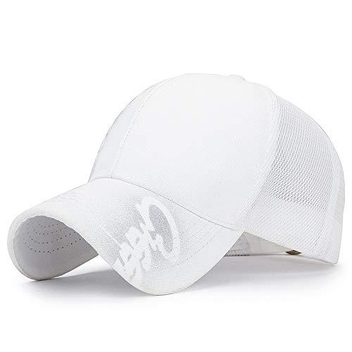 Gorra de Beisbol Brillo Brillo Estampado Tendencia Blanco Ajustable