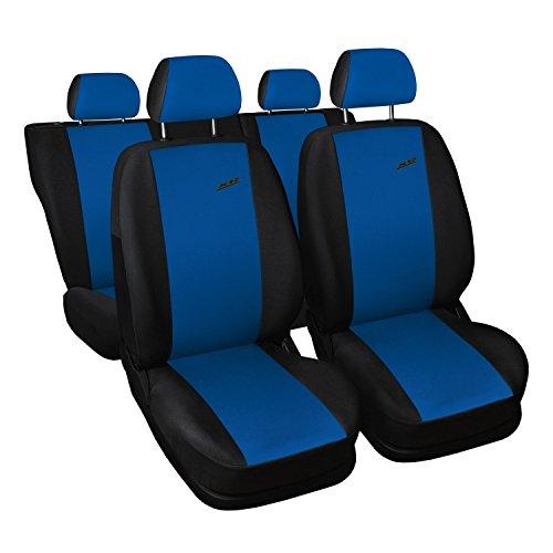 Auto 4U Siège auto voiture universel déjà Housse de protection, XR, 4U, housses pour siège auto Protège Kit complet Bleu