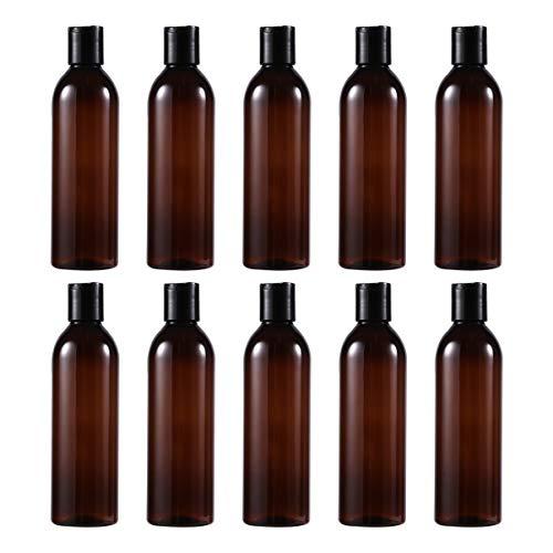 TOPBATHY Botellas vacías con tapa de prensa, 10 unidades, portátil, recargables, para...