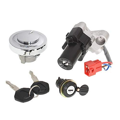 labwork Ignition Switch Fuel Cap Seat Lock Keys 4TR-82021-00 4TR-82501-00 4TR-82501-01 Replacement for Yamaha V-Star 650 1100 XVS650 XVS1100