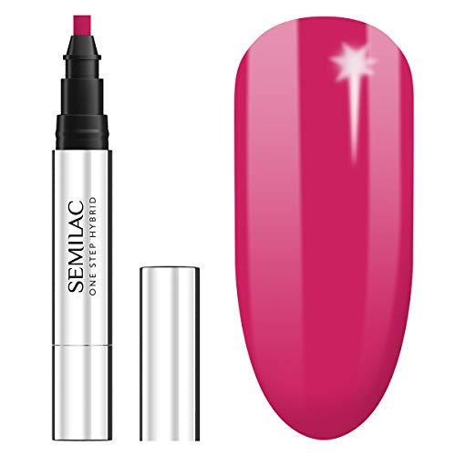Semilac One Step UV Nagellack 3in1 in Stift-Form | Rosa Farb | S680 Magenta | 3 ml | Innovativ UV LED Farblack | Nail Polish Ideal für zu Hause und Professionelle Maniküre