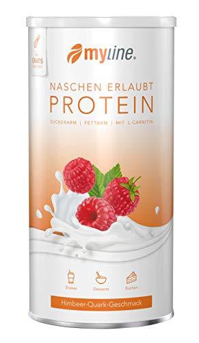 myline Protein - Himbeer-Quark hochwertiges Proteinpulver inkl. Rezeptheft, Verpackungseinheit: 400g Dose
