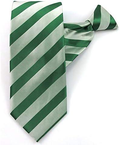 Jacob Alexander Boys 14 inch Stripe Tonal Clip On Neck Tie Kelly Green product image