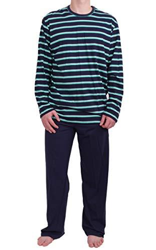 SEIDENSTICKER - Günstiger Herren Pyjama Single-Jersey 141114 (48/S, blau)