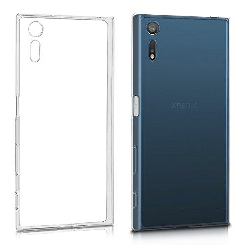 kwmobile Funda Compatible con Sony Xperia XZ/XZs - Carcasa de TPU para móvil - Cover Trasero en Transparente