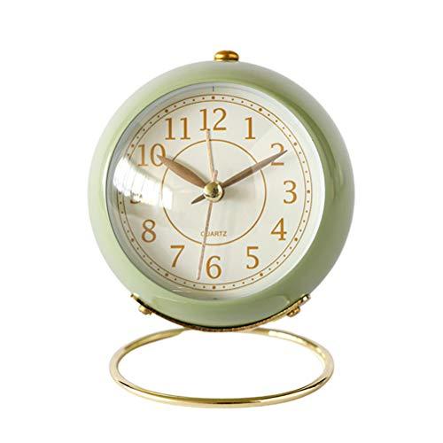 Relógio de mesa criativo despertador de cabeceira Relógio de mesa luminoso Decoração para casa sem bateria verde decoração de relógio de parede