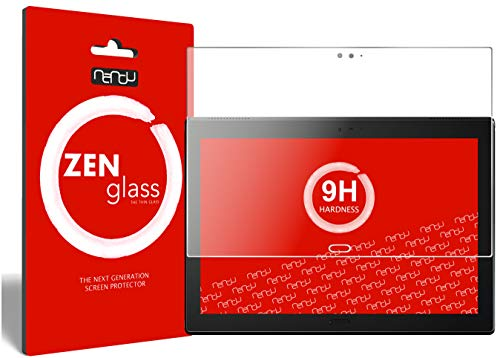 nandu I ZenGlass Flexible Glass Film compatible with Lenovo Tab4 10 Plus TB-X704F I Screen Protector 9H