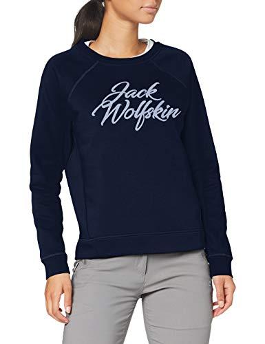 Jack Wolfskin Damen Winter Logo Sweatshirt, Midnight Blue, L