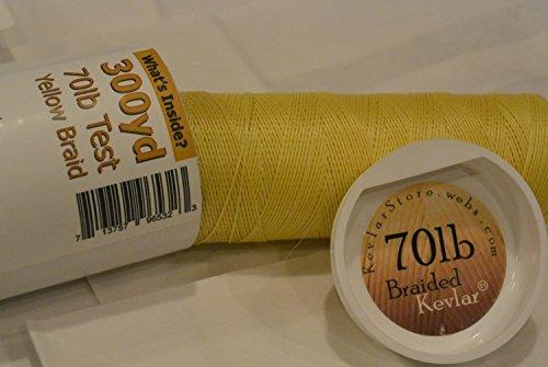 Kevlar Braided Line - 70lb Test - Natural Yellow