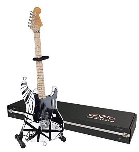 EVH Miniatur Gitarren evh003Mini Replica Gitarre Van Halen, schwarz & weiß